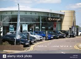 lexus cars uk sale a lexus car dealership in nottingham england u k stock photo