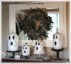 chic on a shoestring decorating diy halloween glass ghosts just
