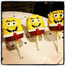 sponge bob cake pops except use rice krispie birthdays