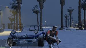 mod for online game gta v on pc gets snow mod for gta online video shows how cool it is