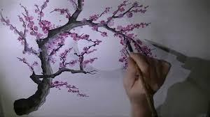 plum blossom brush painting youtube
