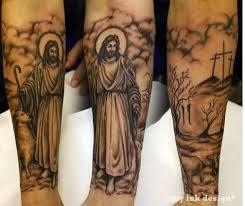 jesus saying awesome on leg tattooshunter com
