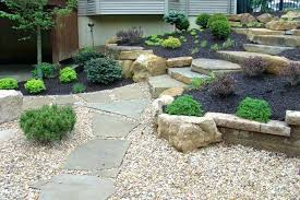 Rocks In Garden Rocks In Garden Rocks In Garden Design With River Rock Landscaping