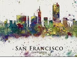 san francisco map painting portland oregon skyline portland keep portland city