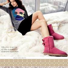 womens pink ugg boots with bows ugg australia womens bailey bow boot ugg trip bow