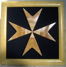 wooden maltese cross maltese cross in with frame made in malta products