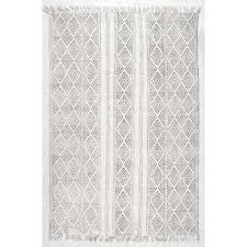 White Cotton Rug Cotton Area Rugs Rugs The Home Depot