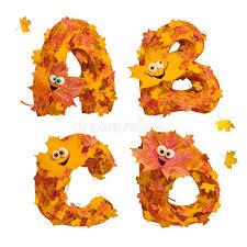 imagenes animadas de otoño sistema de letras animadas enormes del alfabeto del otoño a b c
