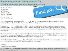 Bank Customer Service Representative Resume Sample by Bank Customer Service Representative Recommendation Letter