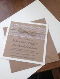 wedding invitations ebay vintage recycled brown card pearl lace handmade wedding invitation