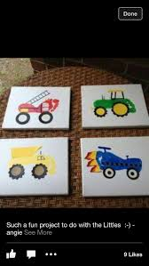 kid craft tractor truck paint canvas kid craft pinterest