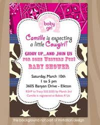 western baby shower invitations pink and brown