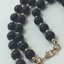 vintage beads necklace images Jewelry vintage monet blackgold bead necklace poshmark jpg
