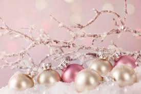 white and pink ornaments stock photo image of gift defocused