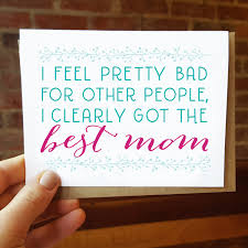 funny mothers day card best mom ever greeting card