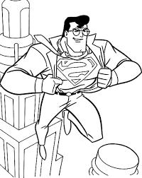 superman pictures color kids coloring