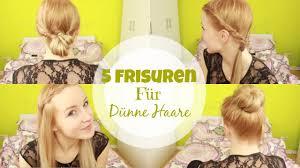 Hochsteckfrisurenen Mit D Nen Haaren by 5 Frisuren Für Dünne Haare Smarti