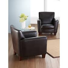 Threshold Chairs Nolan Bonded Leather Living Room Club Chair Espresso Threshold
