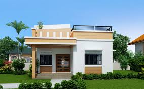 Modern Small House Designs Rommell U2013 One Storey Modern With Roof Deck Pinoy Eplans Modern