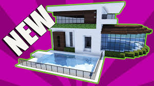 minecraft how to build a small modern house tutorial easy cute