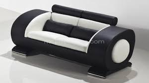 canapé design noir et blanc canape 2p capsule blanc noir mobiliermoss pouf integre accoudoir