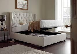 4ft Ottoman Storage Beds by Kaydian Walkworth Ottoman Storage Bed Oatmeal Fabric My Home