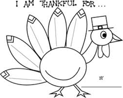thanksgiving i am thankful for turkey printable worksheets
