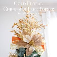 gold floral christmas tree topper