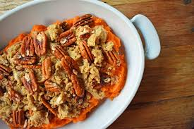 sweet potato thanksgiving side dish sweet potato brown sugar pecan bake modern honey