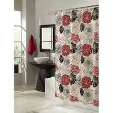 White And Black Shower Curtains Red And Gray Shower Curtain Abstract Art Shower Curtain Red Black
