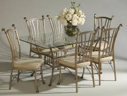 glass top dining room set splendid glass top dining room sets with wrought iron dining table