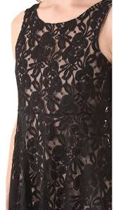 free people miles of lace tank dress in black lyst