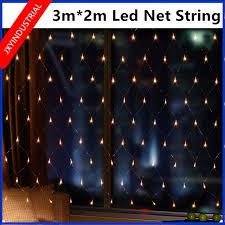 led net lights multi color 3 2m 204leds eu plug wedding party decoration led net string lights