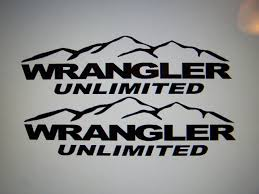 jeep wave stickers jeep wrangler unlimited fender decals with mountains