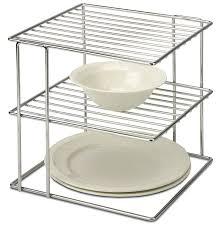 wire cabinet shelf organizer amazon com organize it all chrome kitchen corner shelf organizer