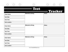 printable organization quiz for students this free printable test tracker is great for high school and