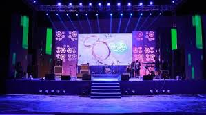 wedding backdrop led stage setup with led wall sangeet decor wedding