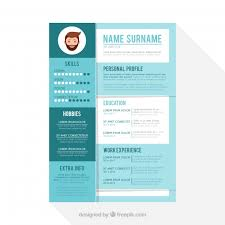 Cute Resume Templates Free Cute Resume Template Vector Free Download