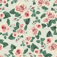 seamless floral pattern with pink roses by ollallya graphicriver