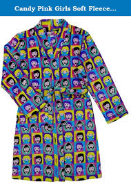 emoji robe candy pink girls soft fleece robe girl emoji 14 16 wrap yourself