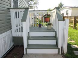 my side entrance deck porch re stained with two behr solid color