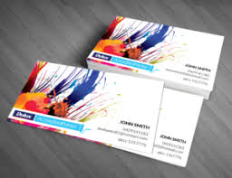 Business Cards Painting 160 Professional Modern Painting And Decorating Business Card