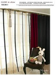 single panel modern solid color blackout curtains for living room
