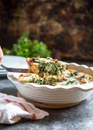 Spinach Quiche With Cottage Cheese by Crustless Spinach Quiche With Ham Kevin Is Cooking