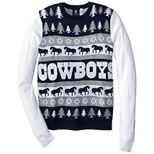 cowboys sweater dallas cowboys sweater amazon com