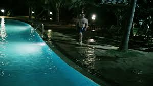 Pool At Night Water Running In A Dark Pool At Night Stock Footage Video 5024000