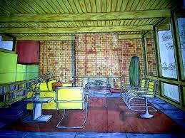 interior color rendering analogous color scheme by dashawn