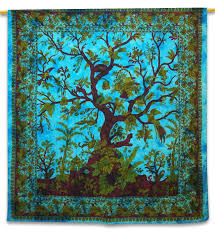 hippie home decor uk tree of life tapestry bed sheets wall hanging indian hippie cotton