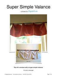how to make a valance u2013 a sewing project angelab me