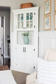 how to build an corner cabinet diy farmhouse corner cabinet delightfully noted